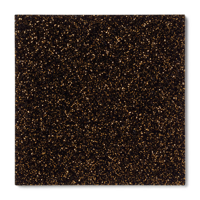 Black Gold Glitter Acrylic Plexiglass Sheet, color 9761A