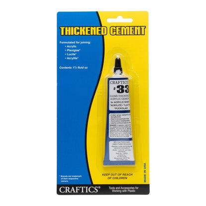 Craftics 33 Thickened Acrylic Cement
