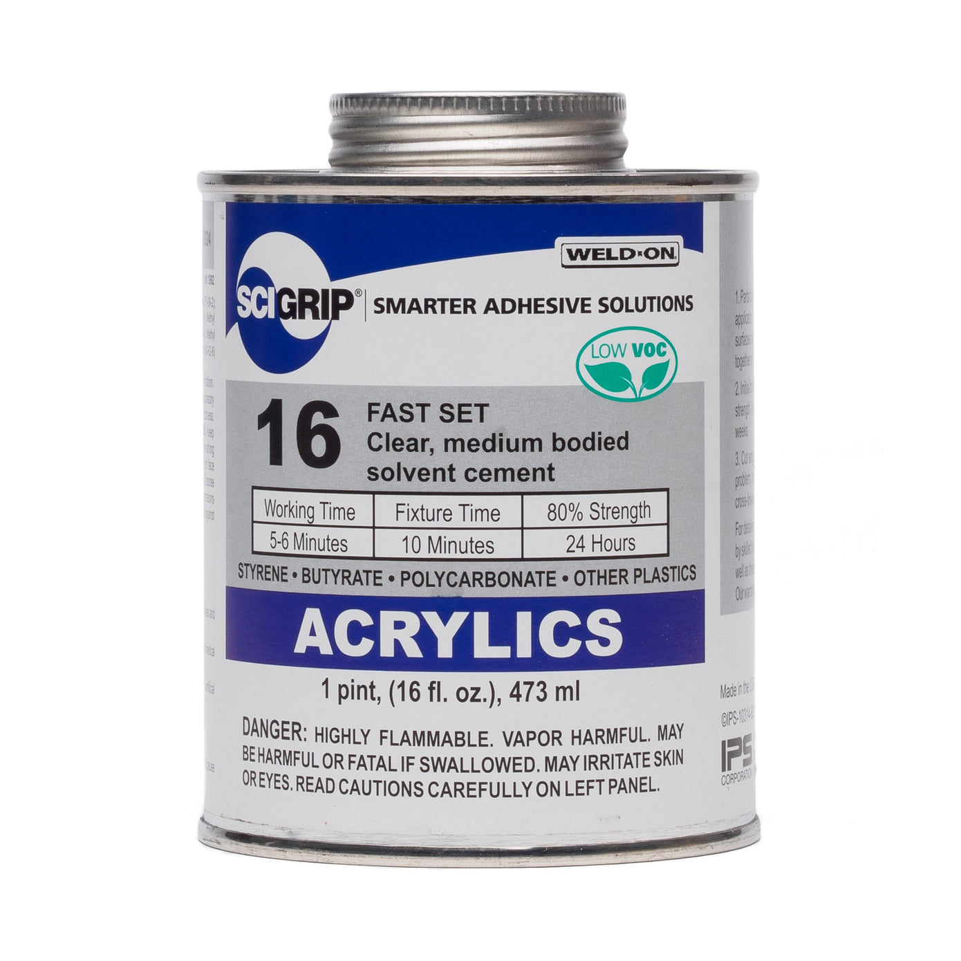Ips Sci Grip 16 Acrylic Solvent Cement Canal Plastics Center