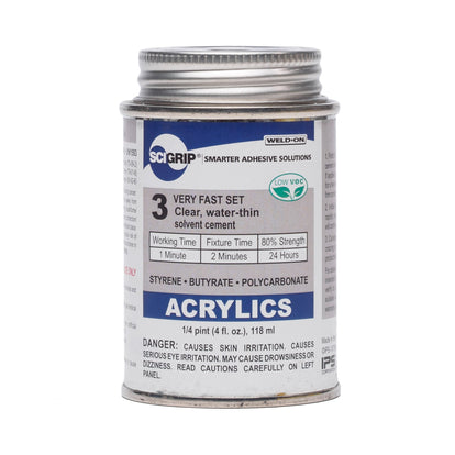 IPS Sci-Grip 3 Acrylic Solvent Cement