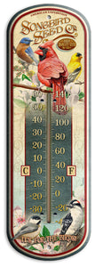 Vintage Songbird Ad Design 17 Inch Thermometer