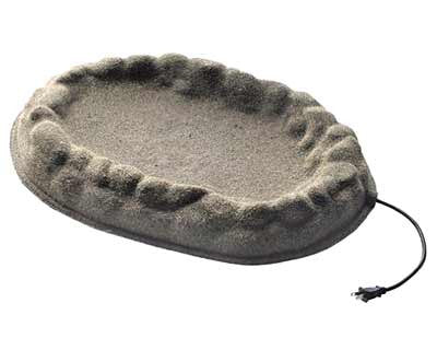 Farm Innovators Four Seasons Sand Coated Ground Bird Bath