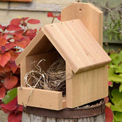 Backyard Boys Cedar Open Nesting Platform