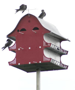 S&K Purple Martin Barn & Perch, 16 Room
