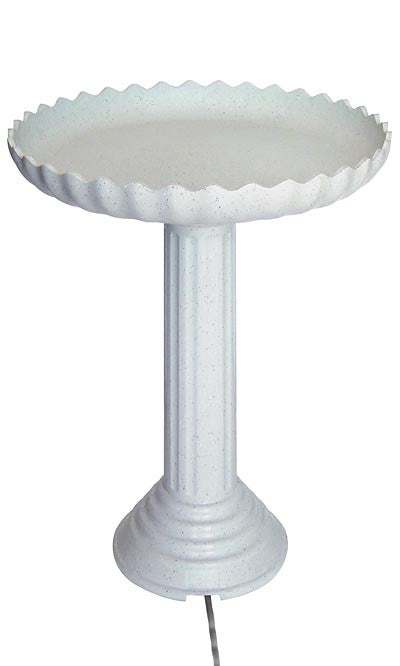 Farm Innovators Scalloped Heated Bird Bath & Pedestal