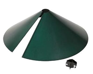 "Squirrel Proof Baffle by Stokes Green, 18"" dia."