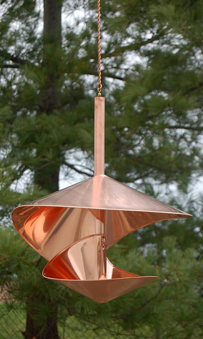 Vasse Vaught Vogeli Large Copper Bird Feeder