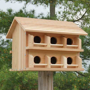 Heath Cedar Purple Martin House, Round Entrance Holes