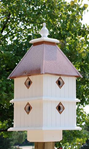Wing & A Prayer Plantation Bird House, Hammered Copper Colored Roof