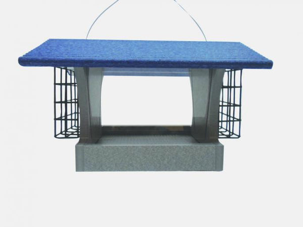 Medium Hopper Feeder With Suets by Green Solutions