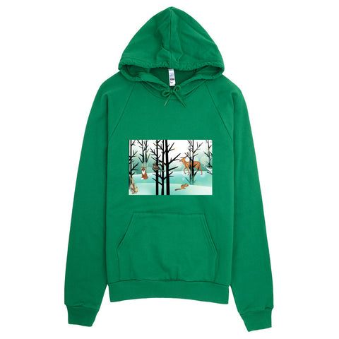 Hoodie With Winter Woodlands Design