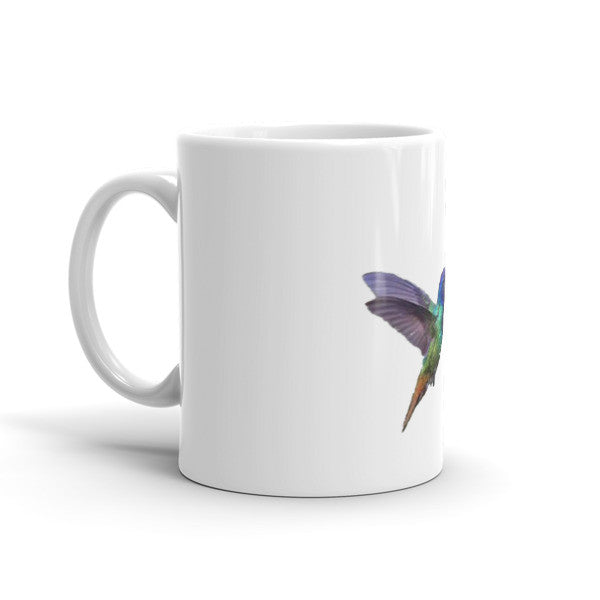 Heavy Duty Ceramic Mug With Gorgeous Hummingbird / Hibiscus Design