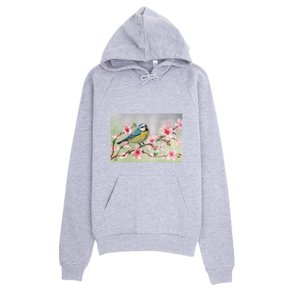 Hoodie With Original Blue Bird Design