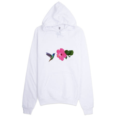 Hoodie With Original Hummingbird / Hibiscus Design