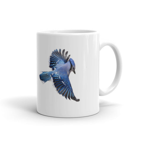 Heavy Duty Ceramic Mug With Blue Jay Design
