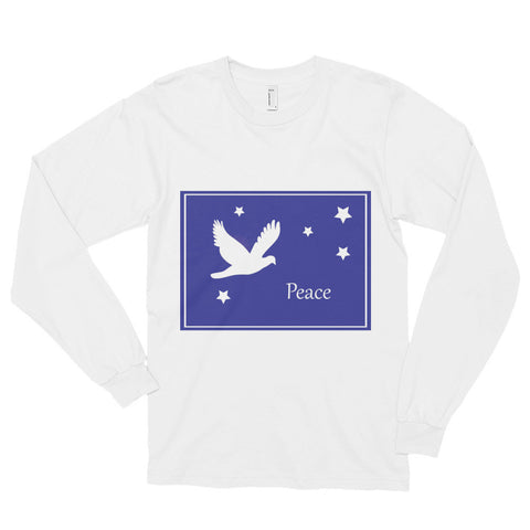 Long Sleeve T-Shirt With Dove Peace Design
