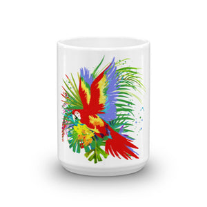 11 or 15 Oz. Heavy Duty Ceramic Mug With Original Parrot Design