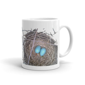 Heavy Duty Ceramic Mug With Gorgeous Robin's Nest Design
