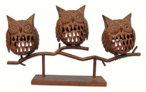 3 Owl Tealight Holder