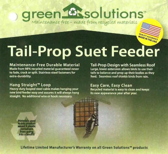 Tail Prop Suet Feeder by Green Solutions