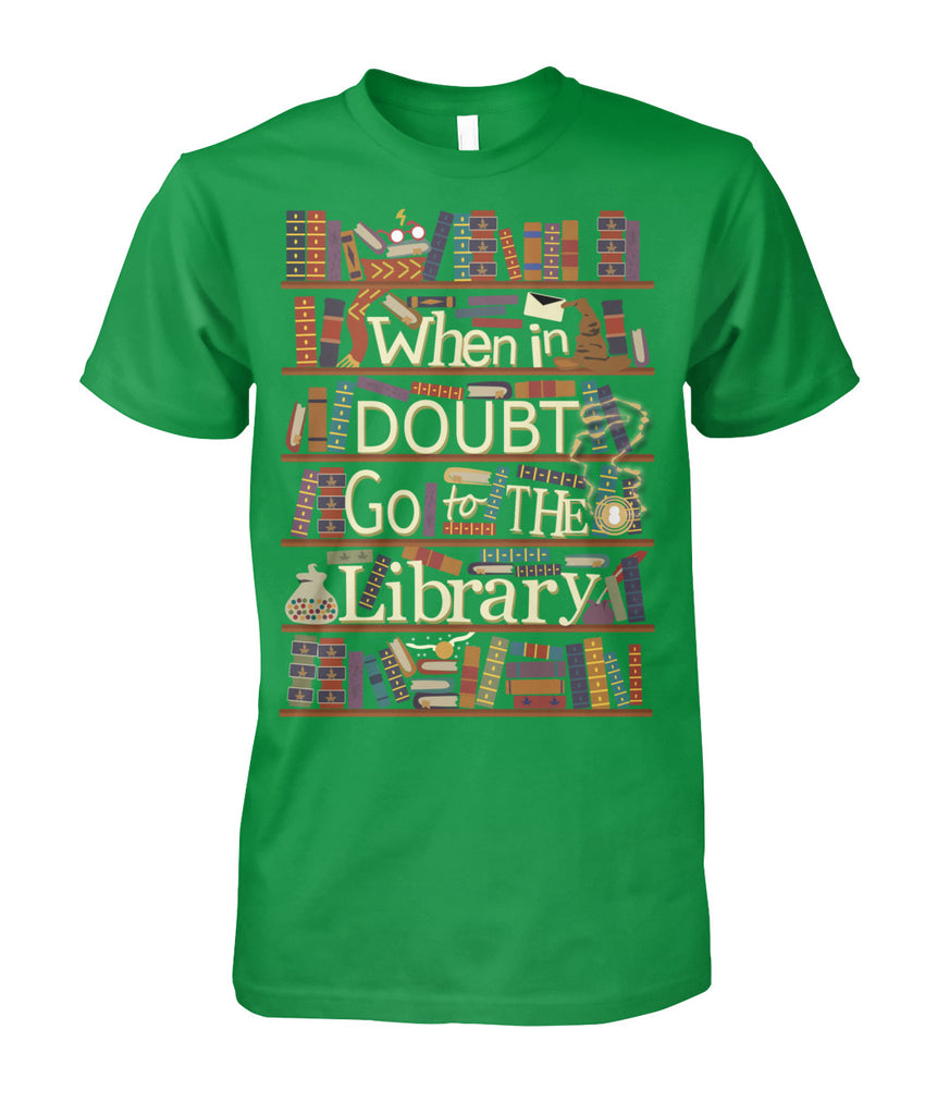 When in doubt go to the library tee