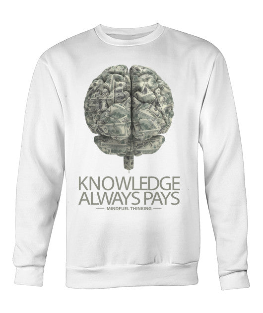 Knowledge Always Pays Crewneck Sweater