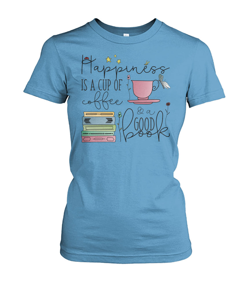 Coffee & Books Happiness In a Cup Tee