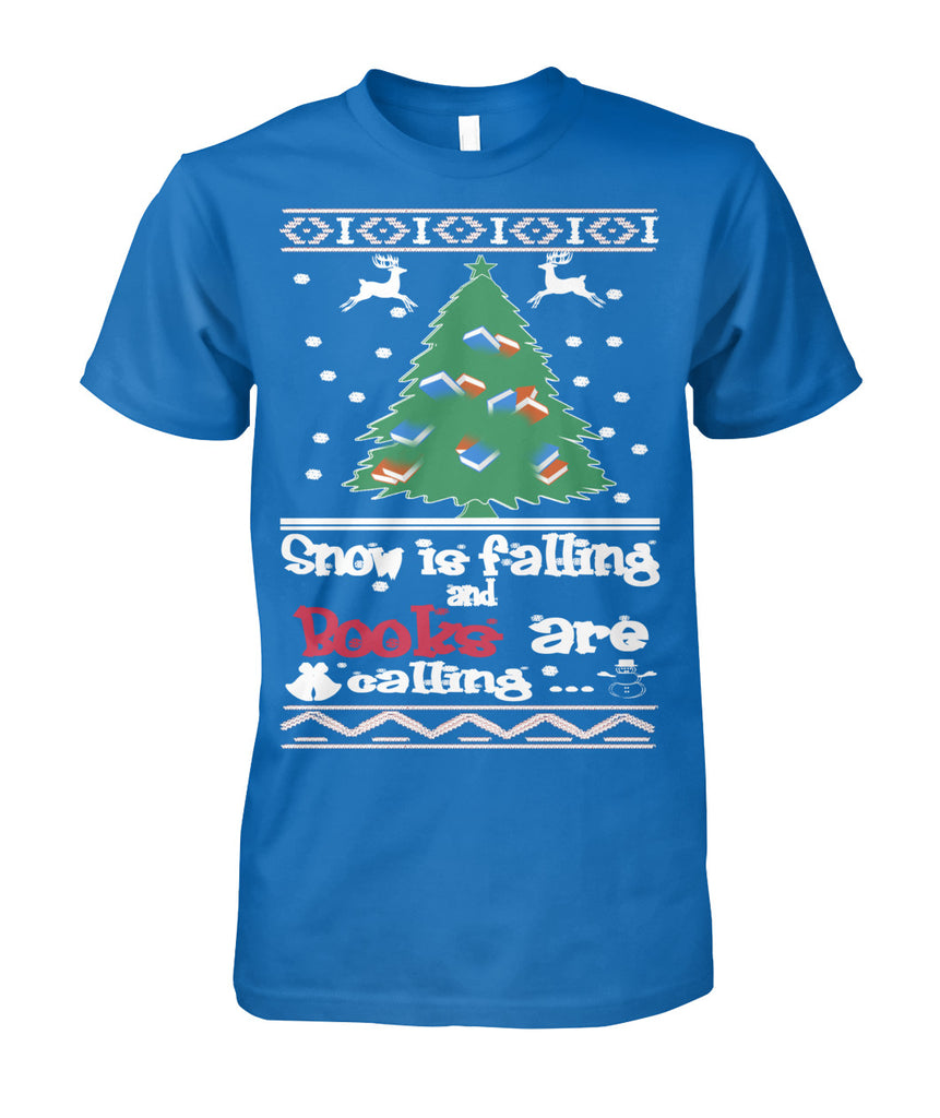 Snow is falling & books are calling tee