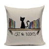 All I Need Is My Book & Cat Pillow Case