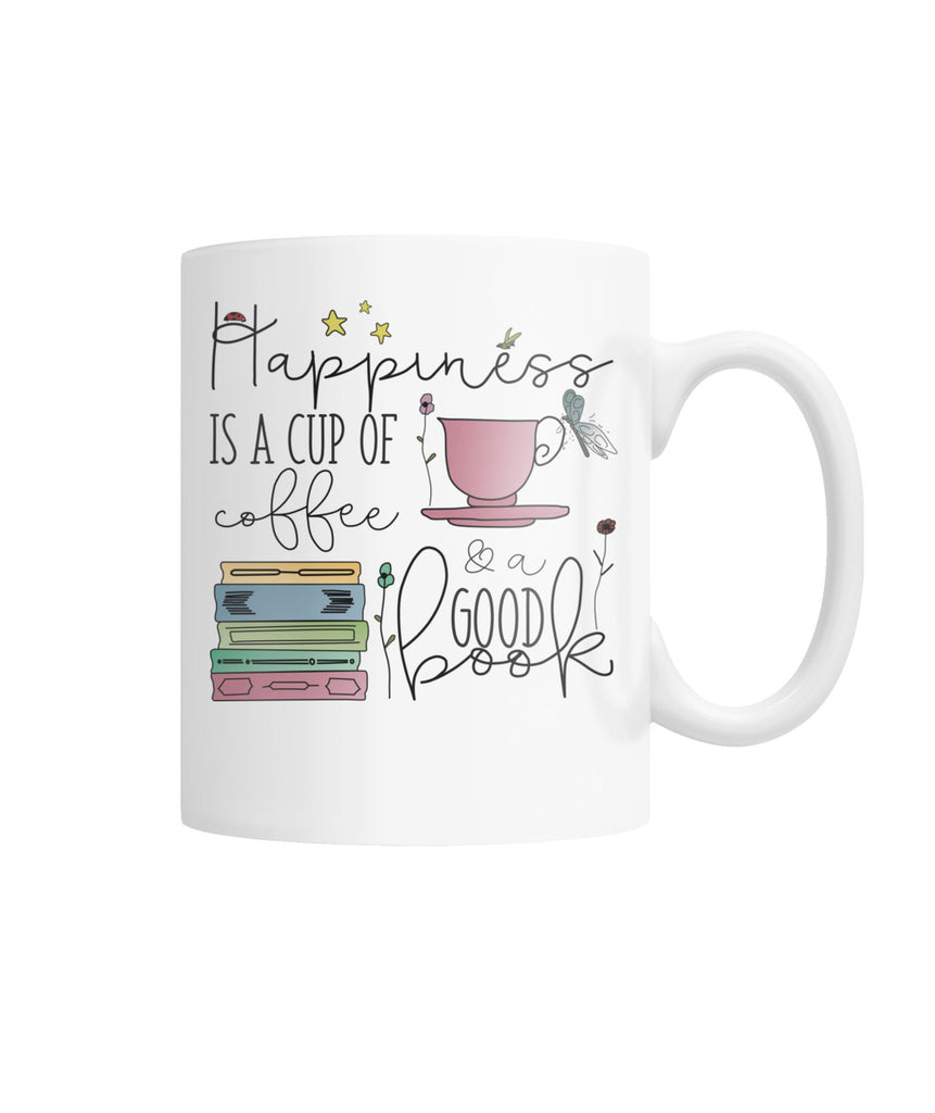 Coffee & Books Happiness in a Mug