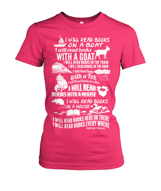 I Will Read Books Everywhere Women's Tee