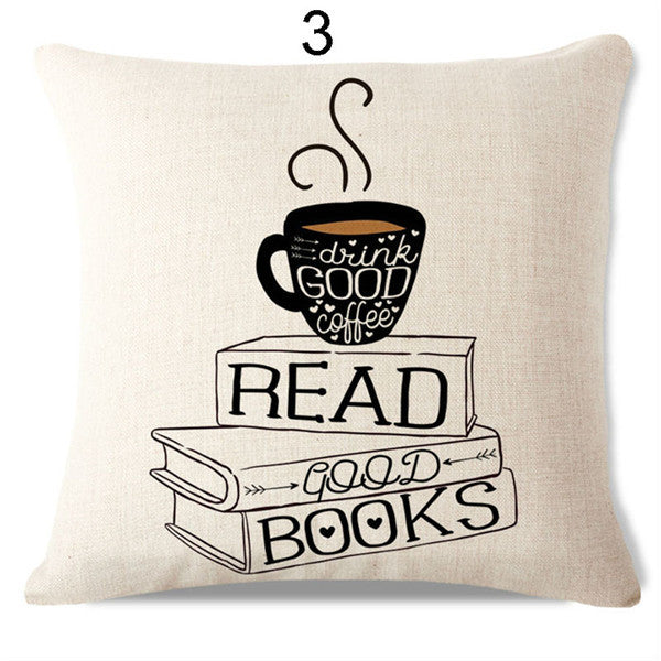Handcrafted Reading Pillow Cover