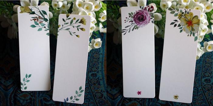 40 pcs/lot Cute Flower Bookmarks