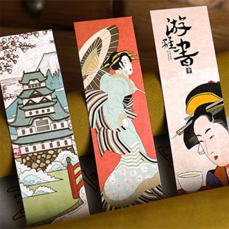 30pcs/lot Japanese Style Bookmarks