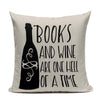 Wine & Book Lover's Handcrafted Pillow Covers