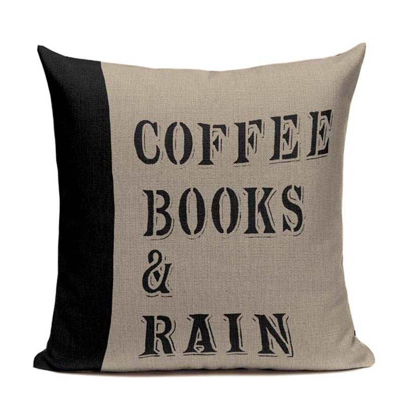 Coffee & Books Handcrafted Pillow Covers