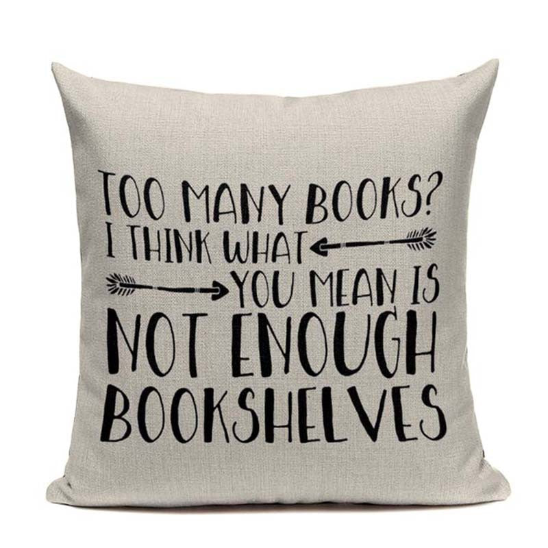 Bibliophile Handcrafted Pillow Covers