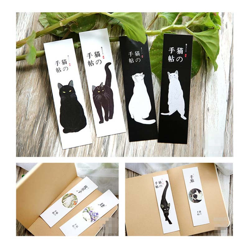 30pcs/lot Lovely Cat Bookmarks