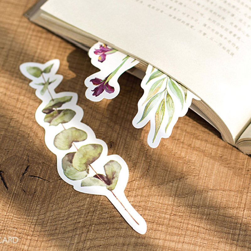 30 pcs/box Vintage Plant Bookmarks