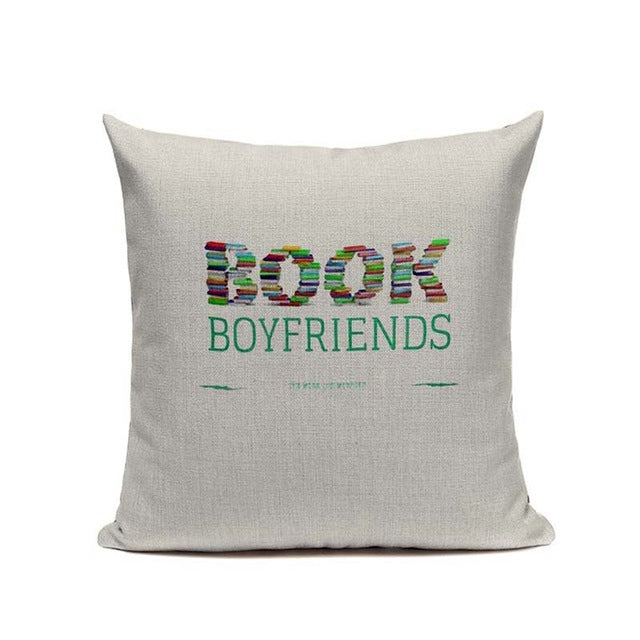 My Handcrafted Book Lover Pillow Covers