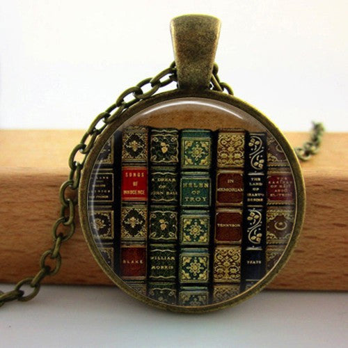 Full of Books Necklace