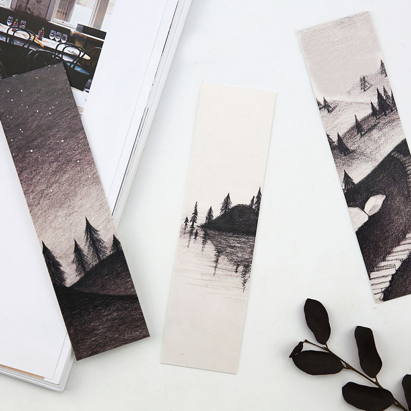 30 pcs Black and White Custom Bookmarks