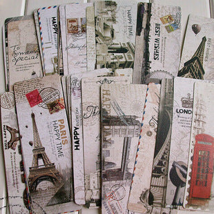 30pcs Vintage European Bookmarks