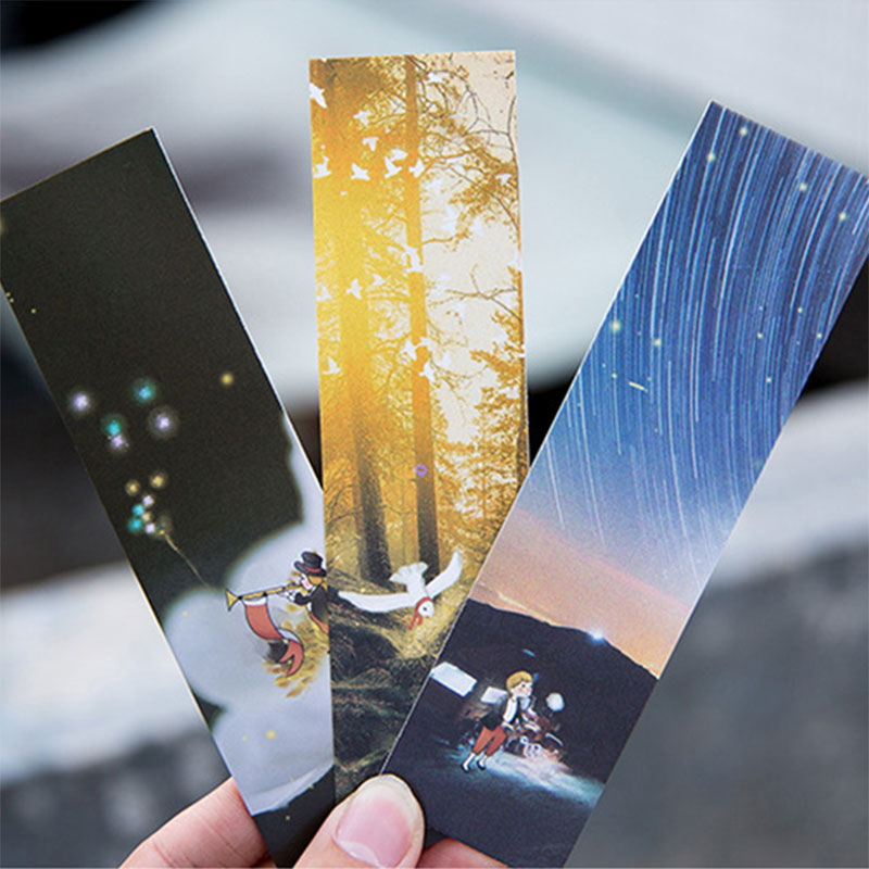 30pcs/box Bright Light bookmarks