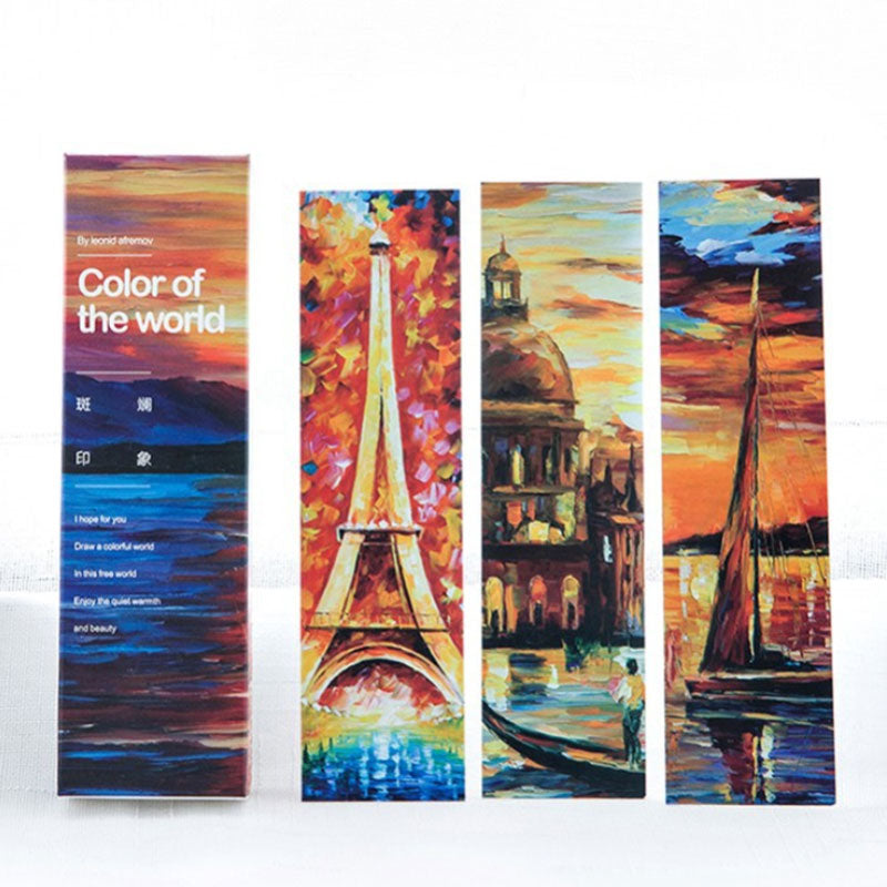 30 pcs/box Color of the world bookmarks