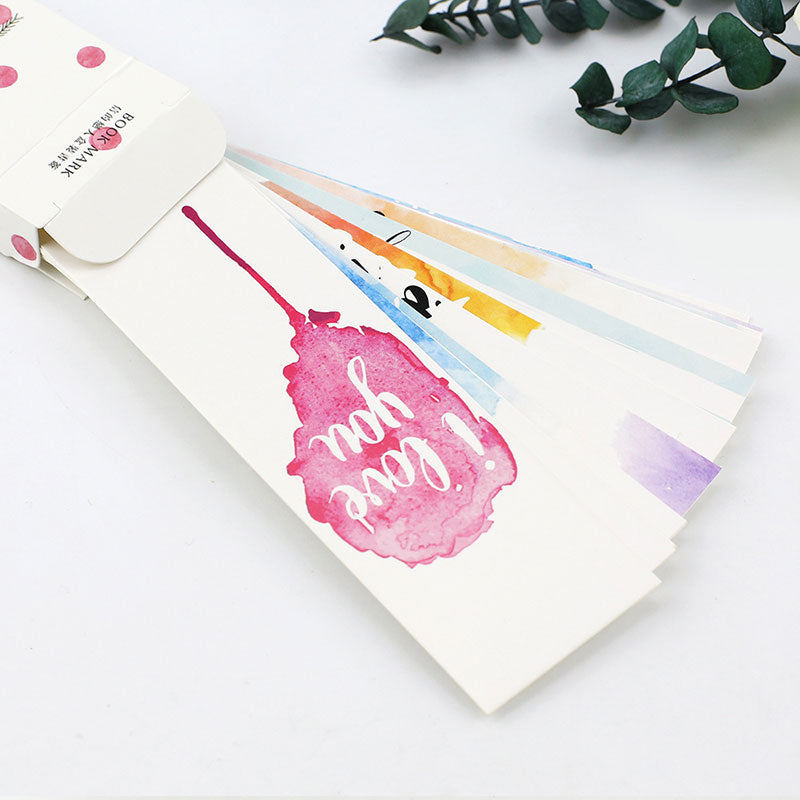 30 pcs/box Love Bookmarks