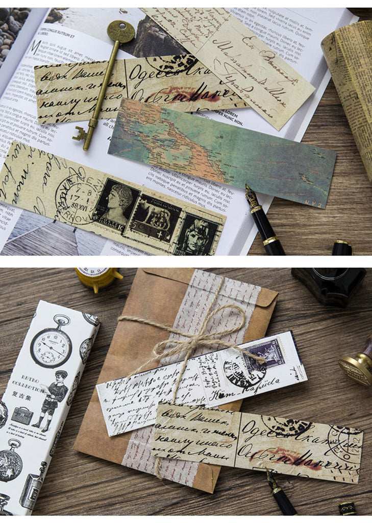 30 pc Retro Bookmark Collection