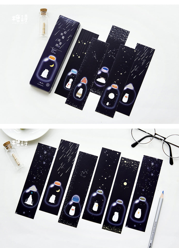 30 pcs/pack Meteor Shower Bookmarks