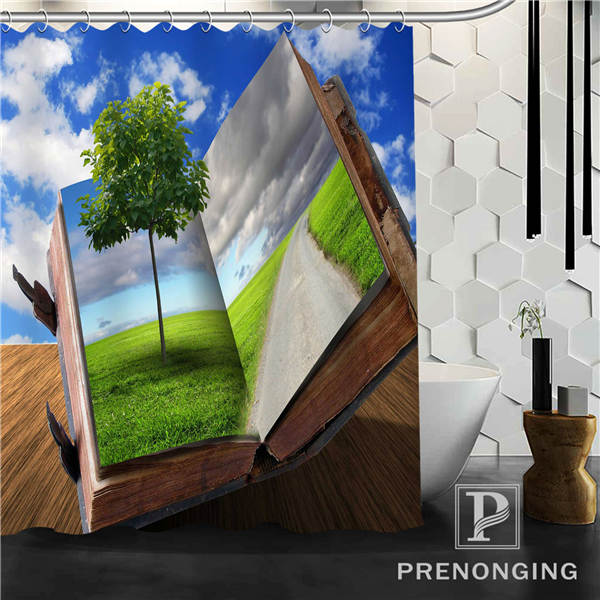 Blue Sky & Books Shower Curtain