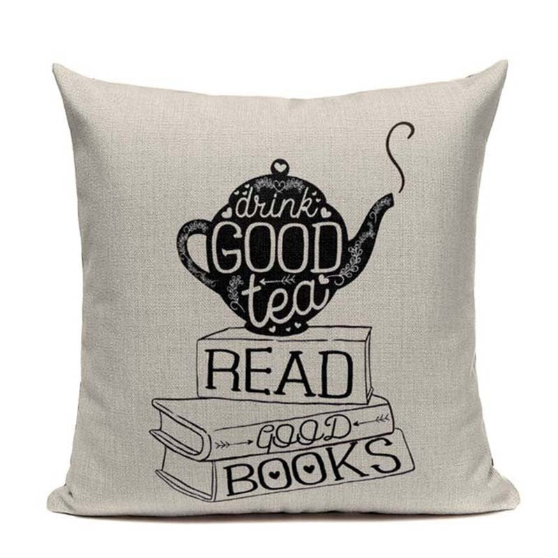 Tea & Book Lover's Handcrafted Pillow Covers